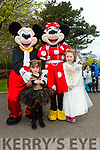 Enjoying the Fancy Dress fun Run in the park on Saturday with mickey and Minnie  Mouse were Abbie Rogers and Chloe McElligott