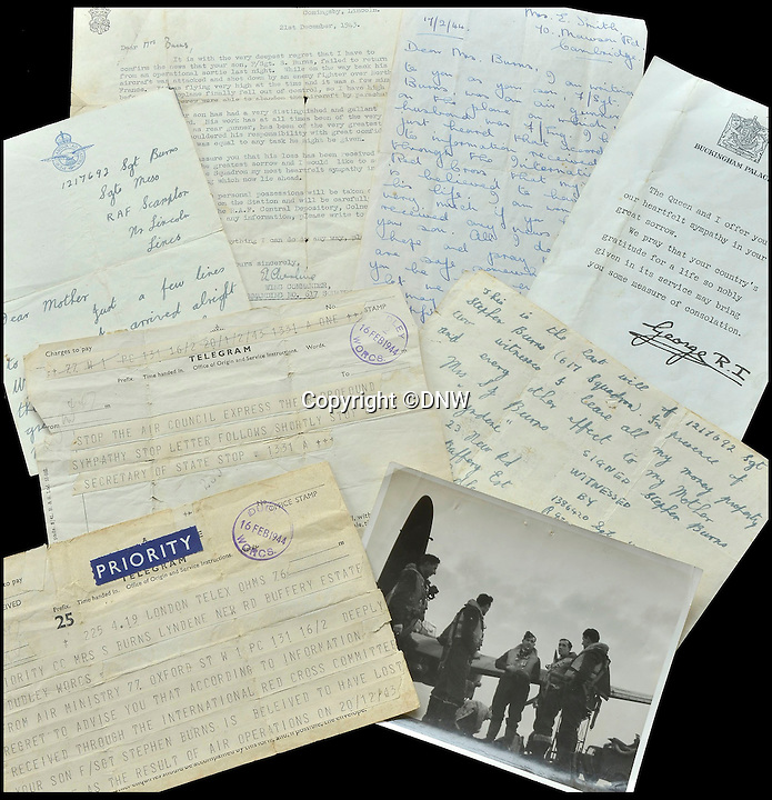 BNPS.co.uk (01202 558833)<br /> Pic: DNW/BNPS<br /> <br /> Various letters and ephemera are also being sold.<br /> <br /> An incredibly poignant poem left by a grieving mother in her war hero son's flying log book has been uncovered to reveal the devastation his death had on her.<br /> <br /> Sarah Burns was so heartbroken at the loss of son Stephen - who flew on the famous Dambusters Raid - that she slept with his spare RAF uniform for solace.<br /> <br /> She also penned a touching poem in his logbook alongside the signatures of RAF legends Guy Gibson and Sir Leonard Cheshire. The items are now being sold by Dix Noonan Webb.