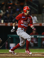 Alan Sanchez de los mayos durante juego de beisbol de la Liga Mexicana del Pacifico temporada 2017 2018. Tercer juego de la serie de playoffs entre Mayos de Navojoa vs Naranjeros. 04Enero2018. (Foto: Luis Gutierrez /NortePhoto.com)