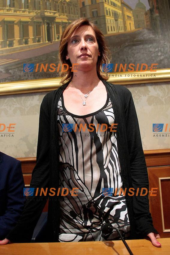 Ilaria Cucchi<br /> Roma 06/06/2013 Senato. Sala Nassirya. Incontro con la stampa 'Cucchi: dopo la sentenza. Solo un caso di malasanit&agrave;'<br /> Photo Samantha Zucchi Insidefoto