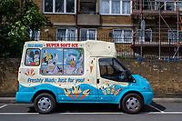 Icecream Van, Peckham. Walk from Telegraph Hill to Burgess Park, South East London,England, UK