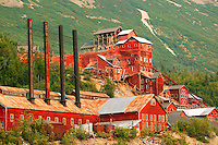 The historic Kennicott Mill built in 1907 by the Kennecott Copper Corporation near McCarthy, Wrangell-St. Elias National Park and Preserve, Alaska.
