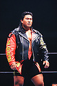 Kensuke Sasaki, APRIL 14, 1995 - Pro-Wrestling :  Kensuke Sasaki is senn during the New Japan Pro Wrestling event in Japan. (Photo by Yukio Hiraku/AFLO)