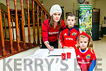 A BOOK of Condolence for the late Anthony Foley was opened at Kerry County Council on Monday. Pictured Caroline  Summers, William Sheeran and Caoimhe Summers from Tralee