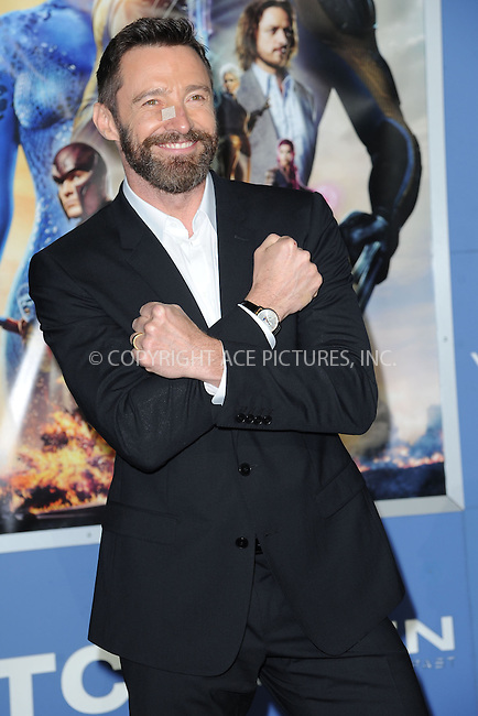 WWW.ACEPIXS.COM<br /> May 10, 2014 New York City<br /> <br /> Hugh Jackman attending the 'X-Men: Days Of Future Past' world premiere at Jacob Javits Center onMay 10, 2014 in New York City.<br /> <br /> Please byline: Kristin Callahan<br /> <br /> ACEPIXS.COM<br /> <br /> Tel: (212) 243 8787 or (646) 769 0430<br /> e-mail: info@acepixs.com<br /> web: http://www.acepixs.com
