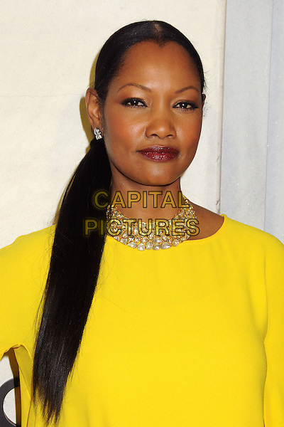 Garcelle Beauvais.Tom Ford Cocktail Party held at the Tom Ford Store, Beverly Hills, California, USA..February 21st, 2013.headshot portrait yellow gold diamond necklace ponytail red lipstick  .CAP/ADM/BP.©Byron Purvis/AdMedia/Capital Pictures.