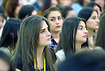 Participants in a Catholic youth congress in Ankawa, near Erbil, Iraq, on April 7, 2016.