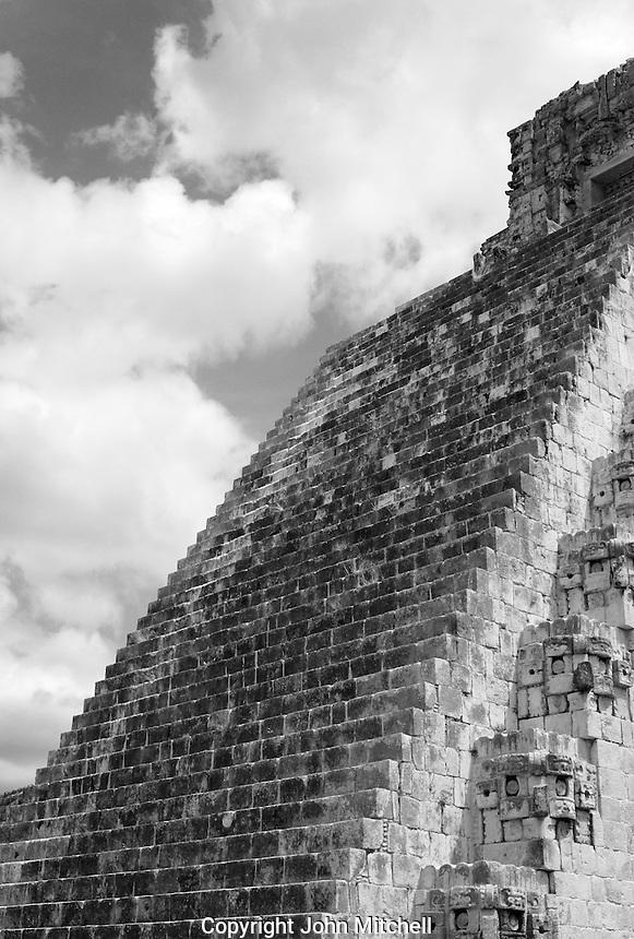 Pyramid of the Magician at the Mayan ruins of Uxmal, Yucatan, Mexico