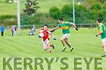 Paul Murphy Rathmore is tracked by Brian Sheehan South Kerry during their County Championship clash in Killorglin on Saturday