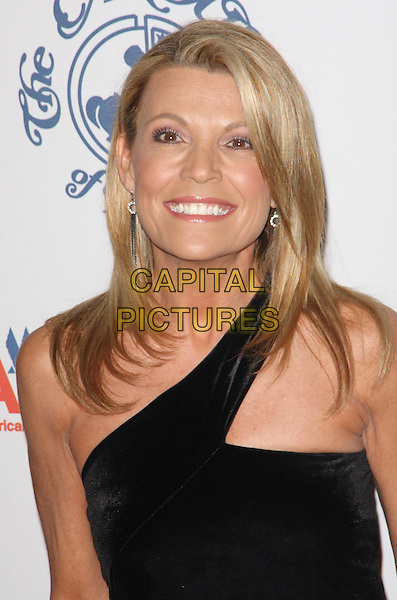 VANNA WHITE .30th Annual Carousel of Hope Ball to benefit the Barbara Davis Center for Childhood Diabetes held at the Beverly Hilton Hotel, Beverly Hills, California, USA. .October 25th, 2008.headshot portrait black one shoulder.CAP/ADM/KB.©Kevan Brooks/AdMedia/Capital Pictures.