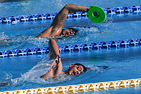 Gabriele Detti and Marco De Tullio swim during a training session.  <br /> Italian athletes were able to resume training last week after more than 50 days of lockdown due to the coronavirus (covid-19) pandemic <br /> Roma 12-5-2020 Centro Federale di Ostia <br /> Photo Andrea Staccioli / Deepbluemedia / Insidefoto