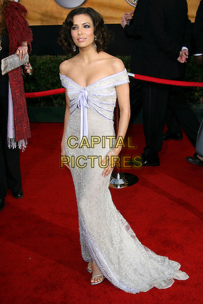 EVA LONGORIA.12th Annual Screen Actors Guild Awards (SAG) held at the Shrine Auditorium, Los Angeles, California..January 29th, 2006.Photo: Zach Lipp/AdMedia/Capital Pictures.Ref: ZL/ADM.full length off the shoulder dress.www.capitalpictures.com.sales@capitalpictures.com.© Capital Pictures.