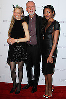 "WEST HOLLYWOOD, CA, USA - FEBRUARY 27: Suzy Amis Cameron, James Cameron, Naomie Harris at the 5th Anniversary Celebration Of Suzy Amis Cameron's Ecofashion Campaign ""Red Carpet Green Dress"" held at Palihouse on February 27, 2014 in West Hollywood, California, United States. (Photo by David Acosta/Celebrity Monitor)"