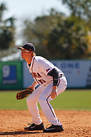 University of Virginia Cavaliers infielder Pavin Smith (10) in the field during a game against the Liberty University Flames at Joseph P. Riley Ballpark on February 17, 2017 in Charleston, South Carolina. Virginia defeated Liberty 10-2. (Robert Gurganus/Four Seam Images)