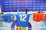 Getafe CF's new Premium Plus Partner Libertex during its official presentation. August 9, 2019. (ALTERPHOTOS/Acero)