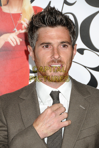 "Dave Annable.""What's Your Number?"" Los Angeles Premiere held at the Regency Village Theatre, Westwood, California, USA..September 19th, 2011.headshot portrait white beige suit hand stubble facial hair .CAP/ADM/BP.©Byron Purvis/AdMedia/Capital Pictures."