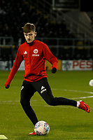 David Brooks of Sheffield United warms up during the Sky Bet Championship match between Fulham and Sheff United at Craven Cottage, London, England on 6 March 2018. Photo by Carlton Myrie.