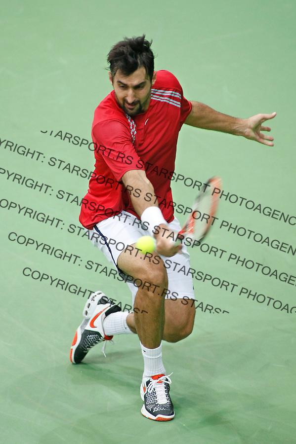 Tenis, Davis Cup, 1/8 round.Russia Vs. Serbia, .Nenad Zimonjic Vs. Mikhail Youzhny.Moskva, 02.08.2008..foto: Srdjan Stevanovic