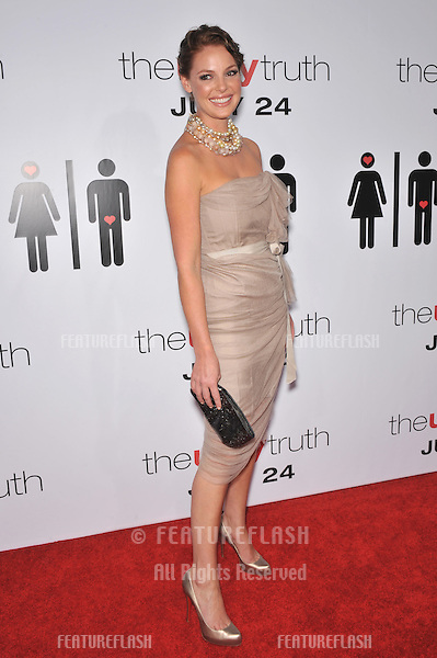 "Katherine Heigl at the premiere of her new movie ""The Ugly Truth"" at the Cinerama Dome, Hollywood..July 16, 2009  Los Angeles, CA.Picture: Paul Smith / Featureflash"