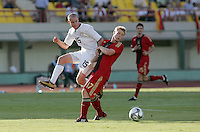 FIFA Under 20 World Cup Group C Match between the United States and Germany at the Mubarak Stadium on September 26, 2009 in Suez, Egypt. The US team lost to Germany 3-0.