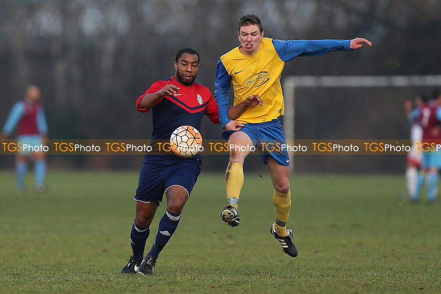 FC Niva (yellow) vs Shakespeare, Hackney & Leyton Sunday League Football at Hackney Marshes on 8th January 2017