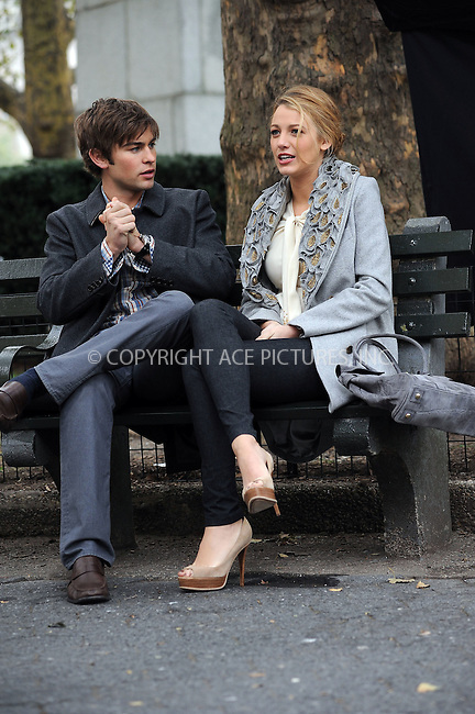 WWW.ACEPIXS.COM . . . . . ....October 14 2009, New York City....Actors Blake Lively and Chace Crawford on the set of the TV show 'Gossip Girl' on October 14 2009 in NewYork City....Please byline: KRISTIN CALLAHAN - ACEPIXS.COM.. . . . . . ..Ace Pictures, Inc:  ..tel: (212) 243 8787 or (646) 769 0430..e-mail: info@acepixs.com..web: http://www.acepixs.com
