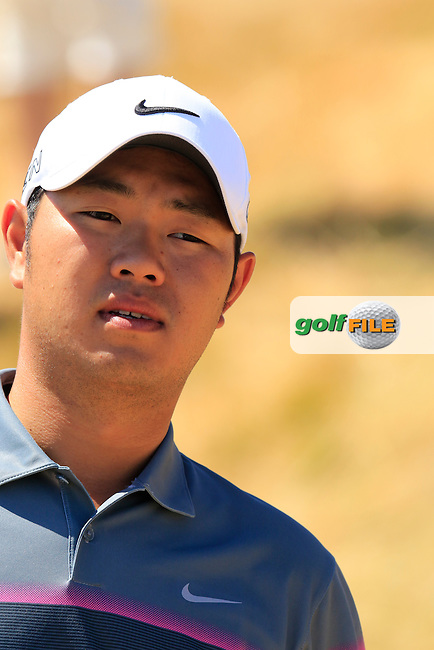 Shunsuke Sonoda (JPN) during Wednesday's Practice Day of the 2015 U.S. Open 115th National Championship held at Chambers Bay, Seattle, Washington, USA. 6/17/2015.<br /> Picture: Golffile | Eoin Clarke<br /> <br /> <br /> <br /> <br /> All photo usage must carry mandatory copyright credit (&copy; Golffile | Eoin Clarke)