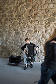 Accordionist playing Bach for tourists in the medieval centre of Krakow