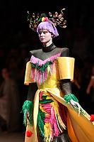 7 September 2017, Melbourne - Model parades design by student Jemy Kondo during the Melbourne Fashion Week in Melbourne, Australia. (Photo Sydney Low / asteriskimages.com)