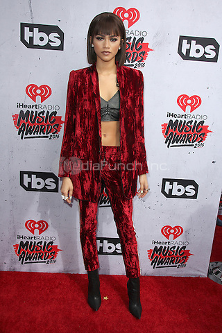 INGLEWOOD, CA - APRIL 3: Zendaya at the iHeartRadio Music Awards at The Forum on April 3, 2016 in Inglewood, California. Credit: David Edwards/MediaPunch
