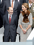The Secretary General of the Socialist Party (PSOE) Alfredo Perez Rubalcaba and the Infanta Elena of Spain attend the National Day Military Parad.October 12,2012.(ALTERPHOTOS/Acero)