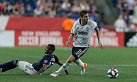 FOXBOROUGH, MA - JUNE 27: Alejandro Bedoya #11 controls the ball during a game between Philadelphia Union and New England Revolution at Gillette Stadium on June 27, 2019 in Foxborough, Massachusetts.
