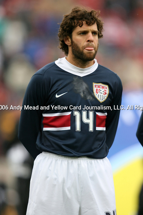 Ben Olsen, of the United States, as the U.S. debuts their new uniforms on Sunday, February 19th, 2005 at Pizza Hut Park in Frisco, Texas. The United States Men's National Team defeated Guatemala 4-0 in a men's international friendly.