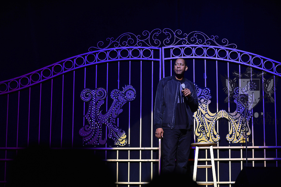 MIAMI, FL - JANUARY 17: Actor / Comedian Mark Curry performs during ' Conspiracy Theory Comedy tour ' with Katt Williams at James L Knight Center on Saturday January 17, 2016 in Miami, Florida.  ( Photo by Johnny Louis / jlnphotography.com )