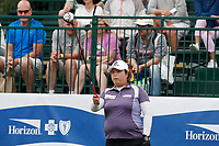 Shanshan Feng (China) tees off on the first hole during the final round of the ShopRite LPGA Classic presented by Acer, Seaview Bay Club, Galloway, New Jersey, USA. 6/10/18.<br /> Picture: Golffile | Brian Spurlock<br /> <br /> <br /> All photo usage must carry mandatory copyright credit (&copy; Golffile | Brian Spurlock)