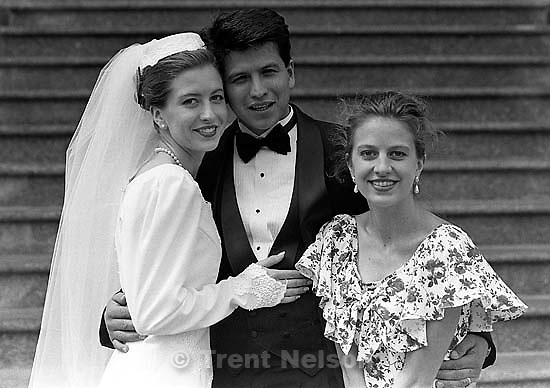Edie, Naui, Pat Quayle at Edie Zambrano and Naui Zambrano's wedding.<br />