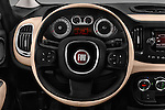 Car pictures of steering wheel view of a 2016 Fiat 500L Living Popstar 5 Door Mini MPV Steering Wheel