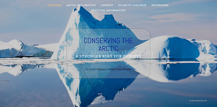 Conserving the Arctic: A Stronger Role for Europe - website cover showing iceberg image by Dave Walsh