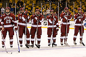 Joe Smith (Harvard 29), Matt McCollem (Harvard 23), Alex Biega (Harvard 3), Paul Dufault (Harvard 12), Brian McCafferty (Harvard 2), Ian Tallett (Harvard 8) - The Boston College Eagles defeated the Harvard University Crimson 6-5 in overtime on Monday, February 11, 2008, to win the 2008 Beanpot at the TD Banknorth Garden in Boston, Massachusetts.