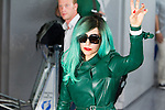 June 21, 2011 - Tokyo, Japan - American pop singer-songwriter Lady Gaga arrives at Narita International Airport, east of Tokyo. Lady Gaga will be performing at the MTV Video Music Awards Japan on June 25. (Photo by Christopher Jue/AFLO)