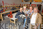 Killorglin locals have been busy the past few weeks with the set up of the new Men's Shed in the Fairfield carpark. Pictured were: Anthony O'Sullivan, James Doyle, Donie O'Sullivan and Jack O'Sullivan.