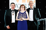 © Joel Goodman - 07973 332324 . 01/03/2018 . Manchester , UK . Barrister of the Year winner is MARY O'ROURKE QC (c) of Deans Court Chambers . The Manchester Evening News Legal Awards at the Midland Hotel in Manchester City Centre . Photo credit : Joel Goodman