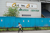 Closed shopping centre in Burnt Oak, London, one of many empty business premises in the area.
