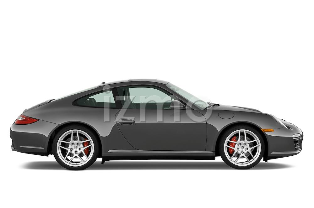 Passenger side profile view of a 2009 Porsche Carrera 4S Coupe.