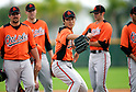 Tsuyoshi Wada (Orioles),.FEBRUARY 19, 2012 - MLB : Tsuyoshi Wada (center), new Baltimore Orioles pitcher of Japan practices during team's spring training camp at Ed Smith Stadium in Sarasota, Florida, United States..(Photo by Thomas Anderson/AFLO) (JAPANESE NEWSPAPER OUT)