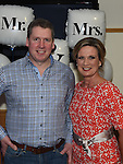 Andrew and Laura callaghan who took part in the Mr & Mrs competition in St Mary's GFC in Ardee. Photo:Colin Bell/pressphotos.ie