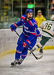 19 January 2018: University of Massachusetts Lowell Riverhawks Defenseman Tommy Panico, a Senior from Wall, N.J., in second period action against the University of Vermont Catamounts at Gutterson Fieldhouse in Burlington, Vermont. The Riverhawks rallied to defeat the Catamounts 3-2 in overtime of their Hockey East matchup. Mandatory Credit: Ed Wolfstein Photo *** RAW (NEF) Image File Available ***