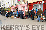 Huge queues in Tralee for the Ed Sheeran ticket sales on Saturday morning.