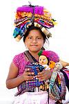 Little girl selling tourist stuff on the streets of Juayua, El Salvador.