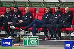18.01.2020, Merkur Spielarena, Duesseldorf , GER, 1. FBL,  Fortuna Duesseldorf vs. SV Werder Bremen,<br />  <br /> DFL regulations prohibit any use of photographs as image sequences and/or quasi-video<br /> <br /> im Bild / picture shows: <br /> die Bremer Bank mitte Frank Baumann (Geschaeftsfuehrer Sport Werder Bremen)<br /> <br /> Foto © nordphoto / Meuter